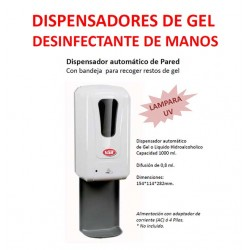 DISPENSADOR AUTOMATICO HIDROALCOHOL DE PARED VAIL