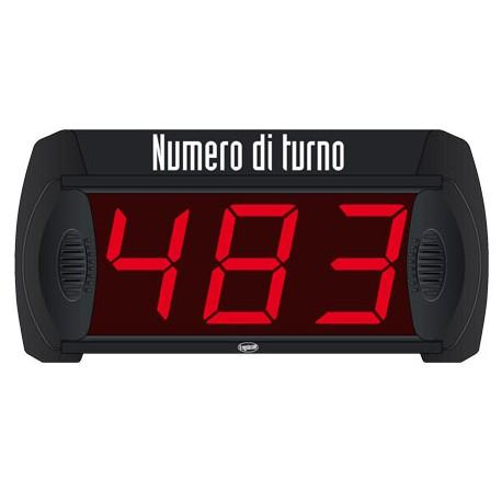 PANTALLA SU TURNO 3 DIGITOS CON MANDO A DISTANCIA MD3