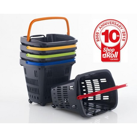 CESTA COMPRA 2 RUEDAS SHOP & ROLL 34 L COLORS