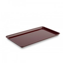BANDEJA PLEXIGLAS GN 3/4 BURDEOS BRILLO 487x265mm