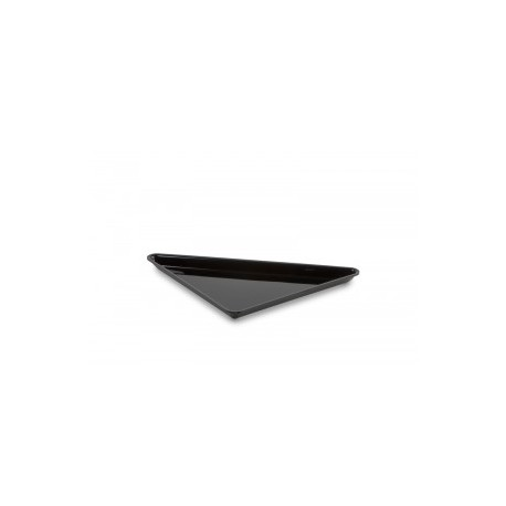 BANDEJA PLEXIGLAS TRIANGULAR NEGRO BRILLO 270x270x370x20mm