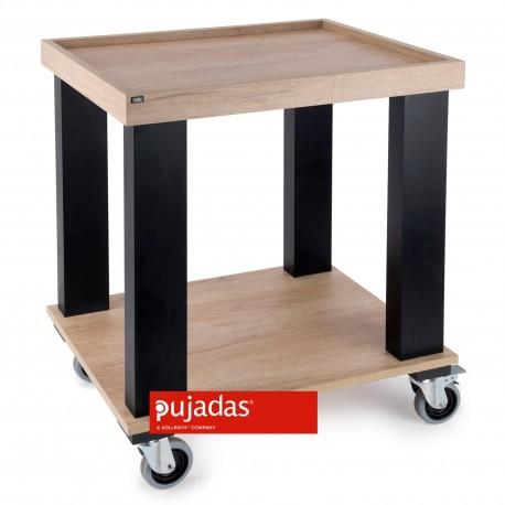 CARRO SERVICIO MELAMINA ROBLE 500x690x855mm  PJ