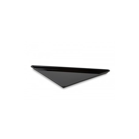 BANDEJA PLEXIGLAS TRIANGULAR NEGRO BRILLO 400x400x565mm
