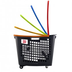 CESTA COMPRA 4 RUEDAS SHOP & ROLL 55 L COLORS