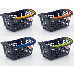 CESTA COMPRA DE MANO SHOP & ROLL 20 L COLORS