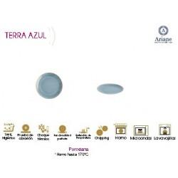 PLATO POSTRE COUPE SERIE TERRA AZUL (12 UD.)