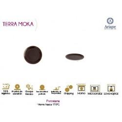 PLATO POSTRE COUPE SERIE TERRA MOKA (12 UD.)