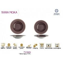 PLATO HONDO SERIE TERRA MOKA (6 UD.)