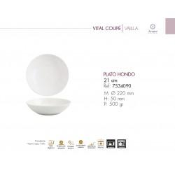 PLATO HONDO SERIE VITAL COUPE (6 ud.)