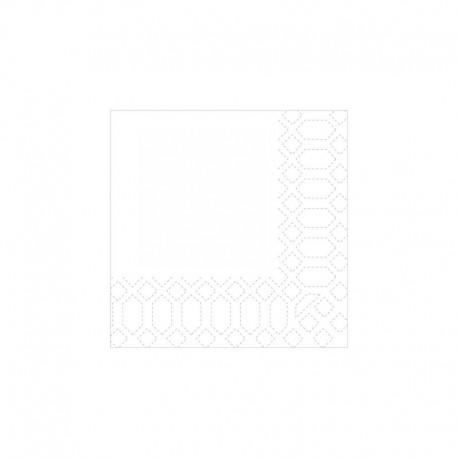 SERVILLETAS 40X32 MICROPUNTO KANGAROO BLANCA (60ud)