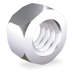 TUERCA INOX HEXAGONAL ROSCA METRICA M8 mm