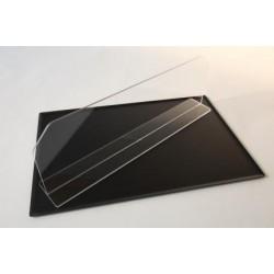 SEPARADOR TRANSPARENTE PLEXI 800X200mm