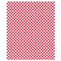 PAPEL ANTIGRASO 31x31cm - CUADROS ROJOS (1000ud)