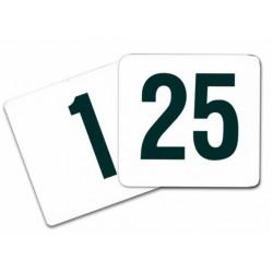 Números mesa para soportes